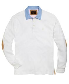 Woven Collar Polo - Brooks Brothers