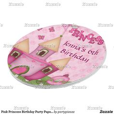 Pink Princess Birthday Party Paper Plates