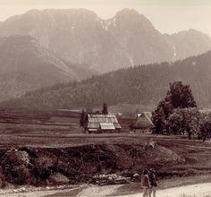 Starocie, stare fotografie Tatr - Giewont bez krzyża