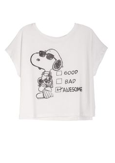 dELiAs > Awesome Snoopy Tee > tops > graphic tees > view all graphic tees