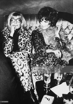 Claudia Cardinale And Monica Vitti On December 1969