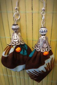 """Boucles d'Oreilles Originales """"Browny Wax"""" : Boucles d'oreille par tidi-wax"""