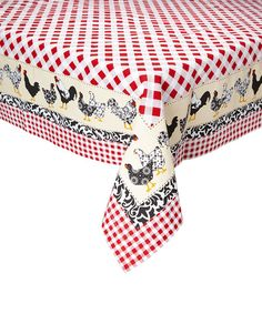 Design Imports Chickens Home to Roost Tablecloth | zulily