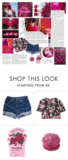 """""""something new"""" by xdayandnightx ❤ liked on Polyvore featuring Anja, KEEP ME, Jonathan Saunders, TONYMOLY, Pink, red, raspberry, bts and jimin"""