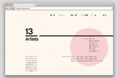 Thezu__13 Artists #website #simplicity