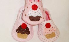 Baby Booties - CUPCAKE Booties - You choose the FLAVOR -  Newborn, Infant, Baby Slippers, Crib Shoes, Footwear, 0 - 18 Months