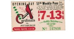 Weekly pass from Saint Louis (Missouri) Public Service Company (1946)