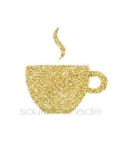 gold coffee digital download soulserenade.etsy.com