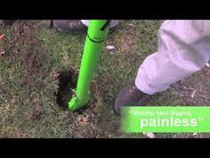 фундамент столбчатый Как копать и компактный отверстия - YouTube