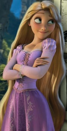 Rapunzel. I wish that they kept her hair blond when her hair was cut off , brown sort of washes her out!