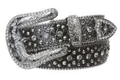 Snap On Western Cowgirl Alligator Rhinestone Studded Leather Belt Size: S/M - 34 Color: Black -- Be sure to check out this awesome product.