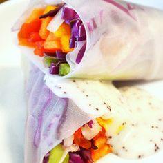 Rolinho colorido de papel de arroz (vegan)