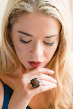 Why not start your Monday morning browsing our statement rings? Shop our gorgeous Smoky Quartz Maxi Ring at:  https://www.augustinejewels.com/collections/rings/products/smoky-quartz-maxi-ring  #quartz #jewels #gemstone #luxuryjewellery #handmade #england #ring