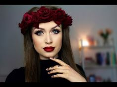 Big eyes and red ombre lips // Fall makeup tutorial - YouTube