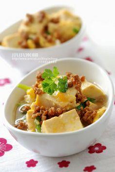 肉燥滑蛋豆腐