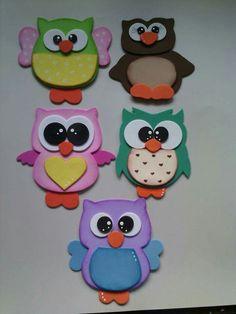 #gomaeva Owl Crafts, Animal Crafts, Preschool Crafts, Paper Crafts, Crafts To Make, Crafts For Kids, Diy Y Manualidades, Owl Patterns, School Decorations