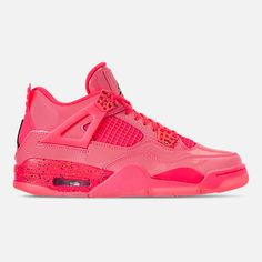 super popular 44237 eccd4 Right view of Women s Air Jordan Retro 4 NRG Basketball Shoes in Hot Punch  Black
