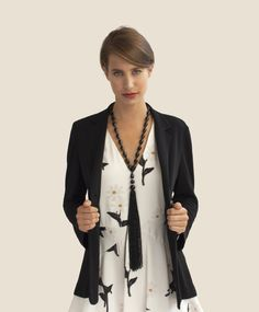 SONNIA Jewellery Design #tasselcollection #onyx #jewellery #jewelry #made in Merano #Italy #designer #jewelry Designer Jewelry, Jewelry Design, Outfit, Italy, Jewellery, Long Sleeve, Collection, Tops, Women