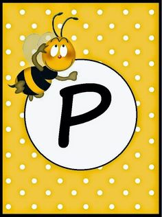 BulutsMom: Arı Temalı Doğum Günü Banner Harfleri Baby Frame, Spelling Bee, Bee Party, Cute Bee, Bee Theme, Alphabet And Numbers, Bees Knees, Classroom Themes, Scrapbook Pages