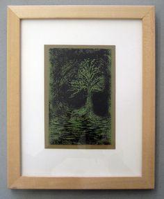 "#44 |  Artist: Meiko Ando | Title: ""Tree"" | Medium: Print | Dimensions: 5 3/4"" X 4"" |  Framed: 11 1/4"" x 9 1/4"" |"