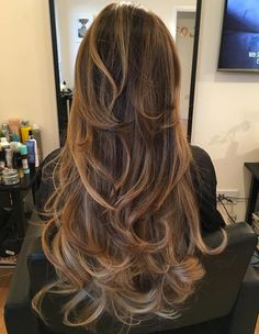 Subtle Caramel Balayage For Long Hair