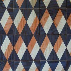 Diamond magnetic wood tiles from New York