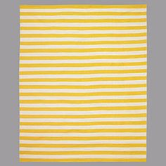 Shop Home Style Picks for Spring | DwellStudio Draper Stripe Citrine Rug | CoastalLiving.com
