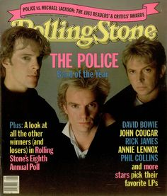 The Police, 1984 - Rolling Stone cover, USA