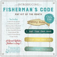 Fishermans Code DIY painting kit by Chalky & CO.