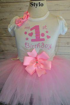 Birthday Tutu Set order or follow us on Facebook ; www.facebook.com/... #birthday #pinktutu #first #styloboutique
