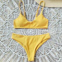 High Cut Bralette Bikini Set Source by bikinis Swimwear Model, Swimwear Sale, Trendy Swimwear, Swimwear Brands, Cute Swimsuits, Cute Bikinis, Bikini Swimwear, Bikini Set, Bikini Bottoms