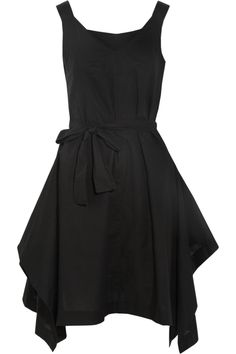 Look closely for the bow.  Vivienne Westwood AnglomaniaZeta asymmetric cotton dress. NET-A-PORTER.COM