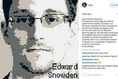 Edward Snowden, Martin Luther King and dozens of other political rebels are featured alongside their story of state punishment Central Intelligence Agency, Ai Weiwei, Edward Snowden, Cool Art, Awesome Art, Hero, Artist, Movie Posters, Faces