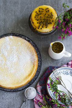 Delicious cheese cake made from Fresh Ricotta cheese. Easy way to make fresh ricotta and combining it with cream cheese, the result are amazing.