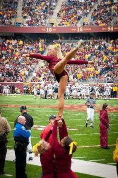 #Cheer, arabesque, stunt, college, University of Minnesota All Girl Cheerleading, team, cheerleaders
