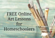 Free Online Art Lessons for Homeschoolers Art Lessons Online, Online Art Classes, Middle School Art, Art School, School Ideas, High School, Arte Online, Art Assignments, Virtual Art