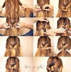 Bow .. Madee of hair !. another way to do it.
