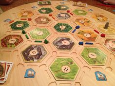 Settlers of Catan Game Board - Wooden Tile Holder