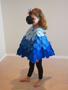 """In our mad dash to get everything we needed before leaving for Japan, we scrambled to address """"The Halloween Issue."""" We'd been told that Halloween in Japan is a big deal in recen… Halloween In Japan, Halloween Owl, Halloween 2014, Halloween Ideas, Parrot Costume, Bird Costume, Rio Birthday Parties, 4th Birthday, Kids Fashion"""