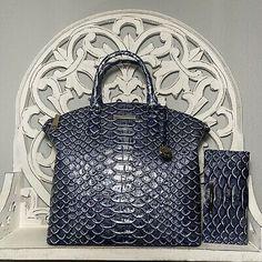 Brahmin Large Duxbury Satchel & Ady Wallet SET Denim Cruz Leather 749034316045 | eBay Brahmin Handbags, Brahmin Bags, Satchel Purse, Purse Wallet, Tote Bag, Leather Crossbody, Leather Bag, Giant Snake, Snake Print