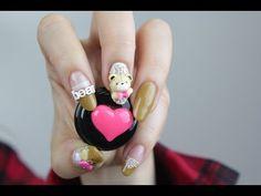 [미대의 네일컬렉션]23화_귀여운 곰돌이 엠보네일아트 / Cute teddy bear embossed nail art/クマエンボスネイルアート/可爱的小熊压花美甲 - YouTube