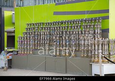 Download this stock image: Shisha pipes on display on Jumeirah Beach Dubai UAE - EF7966 from Alamy's library of millions of high resolution stock photos, Stock Photo, illustrations and vectors.