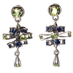 Tiered Spinning Gemstone Earrings