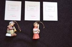 MINT-2pc-Studio-Hummel-Berta-Goebel-Ashton-Drake-Christmas-Ornaments-Set-17-COA