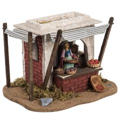 Frutero ambientación pesebre 12cm, Fontanini 4 Christmas Nativity Scene, Christmas Crafts, Christmas Decorations, Medieval Houses, Medieval Market, Diy And Crafts, Arts And Crafts, Ceramic Houses, Miniature Houses