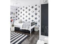 Idee deco noir et blanc chambre