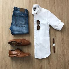 Men Casual Shirt Outfit 🖤 Very Attractive Casual Outfit Grid, Trend Fashion, Mens Fashion Blog, Fashion Outfits, Fashion 2020, Men's Fashion, Fashion Guide, Fashion Basics, Fashion Shirts, Fashion Videos