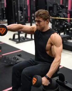 Shoulder Workouts For Men, Shoulder Workout Routine, Gym Workouts For Men, Fitness Workout For Women, Sport Fitness, Mens Fitness, Target Fitness, Abs And Cardio Workout, Gym Workout Chart
