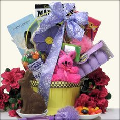 Wish that special young lady in your life Happy Easter by sending her the GiftsBeyond.com 'Cool Chick' Easter Gift Basket specially designed for girls ages 10-13. A Painted Wooden Chic Modern Easter Basket is filled with special gifts including a plush bunny, 10 iTunes Gift Card, Diva Girl Mad Libs, Pom Pom Shooter Pen plus traditional Easter treats including a Milk Chocolate Bunny in a Gift Box, Corso's Spring Themed Cookie, Easter Chick Peeps and more. This is the perfect 'cool' Easter ...