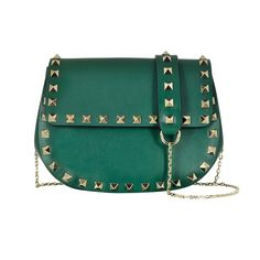 Valentino rockstud leather saddlebag, $1,225 forzieri.com